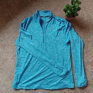 Nike long sleeve quarter zip blue XL